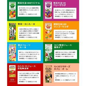 お中元 カゴメの野菜ジュース&エルビー果汁100%ジュース  19種類から4種類も選べる♪(4種類×6本)|nomimon|03