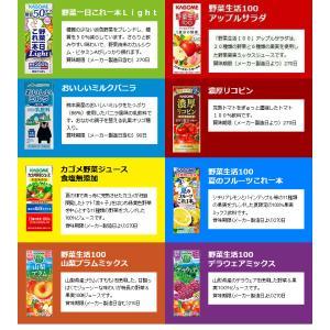 お中元 カゴメの野菜ジュース&エルビー果汁100%ジュース  19種類から4種類も選べる♪(4種類×6本)|nomimon|04