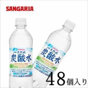 サンガリア 伊賀の天然水 炭酸水 500ml×48本入り|nomimon
