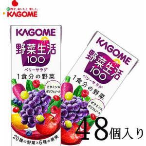カゴメ 野菜ジュース 野菜生活100ベリーサラダ 200ml×48本|nomimon