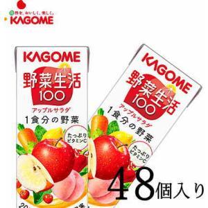 カゴメ 野菜ジュース 野菜生活100アップルサラダ 200ml×48本|nomimon