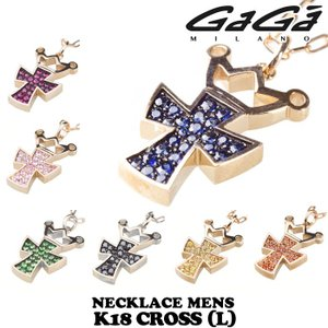 ガガミラノ 18金 クラウンクロスネックレス(L)メンズ 正規品 nomura-j