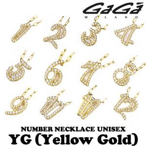 ガガミラノ ジルコニアナンバーネックレス TNC-xx-CZシリーズ イエローゴールド 男女共用 正規品 nomura-j