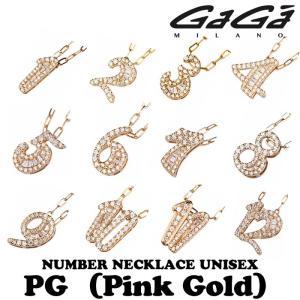 ガガミラノ ジルコニアナンバーネックレス TNC-xx-CZシリーズ ピンクゴールド 男女共用 正規品 nomura-j