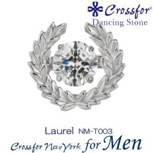 クロスフォーニューヨークフォーメンダンシングストーン ピンブローチ Tiny Pin Laurel NM-T003|nomura-j
