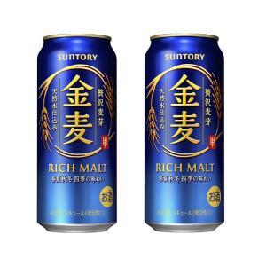 2ケース単位送料無料(北海道〜東北、山陰〜沖縄、離島地域は除く。配送は佐川急便で。)サントリー「金麦」500ML缶(6缶パック×4入=24本×2)|nondonkai