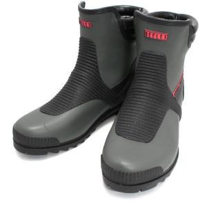 福山ゴム Gレックス1 ショートブーツ 長靴 グレー|nonnonxx2001