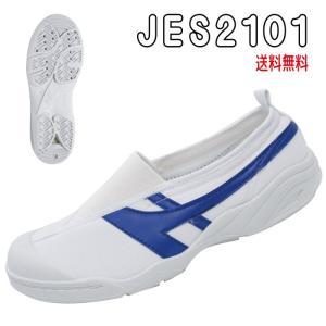 送料無料 教育シューズ JES2101 青