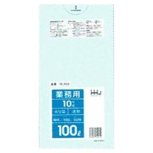 ゴミ袋 100L LLDPE 0.05×1000×1000mm 透明 10枚×20冊(200枚) GL103【メーカー直送・時間指定不可・沖縄、離島不可】|nontarou