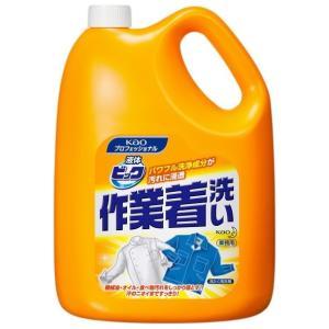 花王 洗たく洗剤 液体ビック 作業着洗い 4.5kg|nontarou
