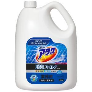 花王 洗たく洗剤 アタック 消臭ストロングジェル 4kg×4本入●ケース販売お徳用|nontarou