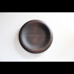 木工アーティスト FUQUGI フクギ LOOP  PLATE プレート  皿 BLK 21cm ハンドメイド 職人の器 作家物|nontitletokyo