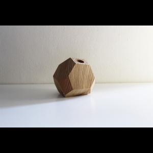 一点物の木製一輪挿し 木工アーティスト FUQUGI フクギ VASE  一輪挿し フラワーベース 花瓶 BRN No4 ハンドメイド 職人の器 作家物 作家の器|nontitletokyo