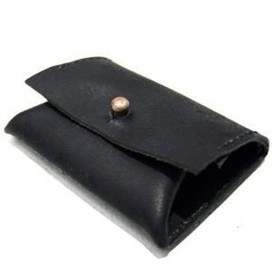 【Hiroshi Kida ヒロシキダ】Italian Calf Coin Case BLK  コインケース イタリアンカーフ 本革 職人 黒|nontitletokyo