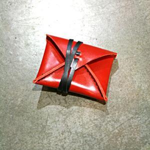 KAKURA/カクラ ヌメ革コインケース urushi レッド 本革 レディース メンズ デザイン雑貨 日本製|nontitletokyo