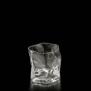 紙をクシュっとしたような個性的なグラス COM(木村硝子×小松誠)クランプル オールド  ロックグラス おしゃれ デザイングラス|nontitletokyo