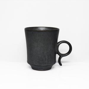 陶芸作家 古賀崇洋 Mug Cup マグカップ ver01  BLACK  ブラック 黒の器 作家の器 作家物 |nontitletokyo