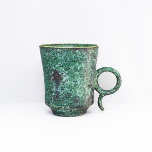 陶芸作家 古賀崇洋 Mug Cup マグカップ ver01  Green グリーン 青銅 青緑 作家の器 作家物 |nontitletokyo