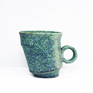 陶芸作家 古賀崇洋 Mug Cup マグカップ ver02  Green グリーン 青銅 青緑 作家の器 作家物 |nontitletokyo
