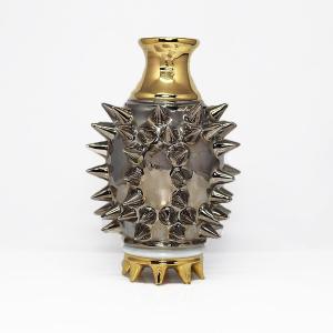 陶芸作家 古賀崇洋 スタッズ徳利 Studs Sake Bottle Platinum Gold プラチナカラー ゴールド  作家の器 作家物 酒の器 |nontitletokyo