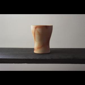 洗練されたスタイリッシュフォルム 陶芸作家 大江一人 Shizuku  シェイプライン フリーカップ タンブラー 作家の器 作家物  ブラウン ベージュ系 和食器|nontitletokyo