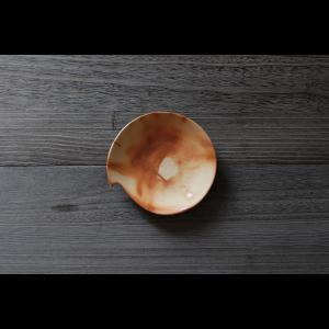 美しい造形の和モダン 陶芸作家 大江一人 Shizuku  16cm Plate 5寸皿  作家の器 作家物  ブラウン ベージュ系 和食器|nontitletokyo