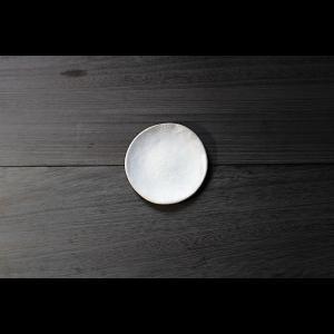 英国の陶芸作家 アーティスト SARAH JERATH  サラジェラス CHALK  12cm Plate プレート 小皿 No1    白 ホワイト 作家の器 作家物 一点物 nontitletokyo