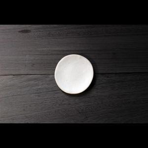 英国の陶芸作家 アーティスト SARAH JERATH  サラジェラス CHALK  12cm Plate プレート 小皿 No2    白 ホワイト 作家の器 作家物 一点物 nontitletokyo
