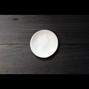英国の陶芸作家 アーティスト SARAH JERATH  サラジェラス CHALK  15cm Plate プレート 中皿 No1    白 ホワイト 作家の器 作家物 一点物 nontitletokyo