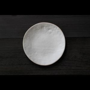 英国の陶芸作家 アーティスト SARAH JERATH  サラジェラス CHALK  24cm Plate プレート 大皿 No1   白 ホワイト 作家の器 作家物 一点物 nontitletokyo