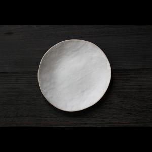 英国の陶芸作家 アーティスト SARAH JERATH  サラジェラス CHALK  24cm Plate プレート 大皿 No3  白 ホワイト 作家の器 作家物 nontitletokyo