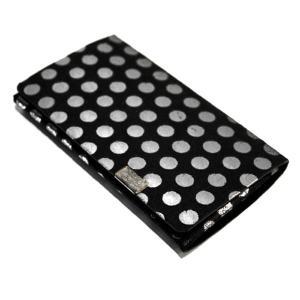 【所作/No,No,Yes!】polka dot/ポルカドット 黒×シルバー カードケース・名刺入れ メンズ レディース デザイン雑貨 本革|nontitletokyo