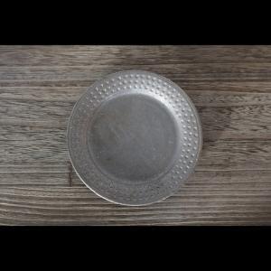 陶芸作家    谷井直人   ドットリム 16.5cm 黒皿 作家の器 作家物 一品料理デザートを美しく見せる器 |nontitletokyo