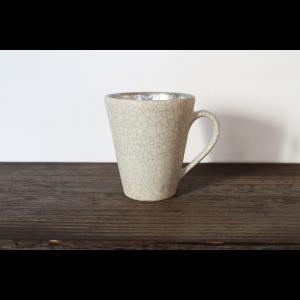 作家物 陶芸作家    谷井直人   白 銀彩 マグカップ コーヒーカップ 作家の器  |nontitletokyo