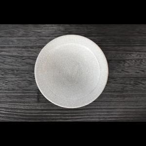 陶芸作家    谷井直人   白×黒 16.5cm リム皿  作家の器 作家物 一品料理デザートを美しく見せる器 |nontitletokyo