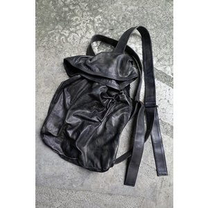 【T.A.S / ティーエーエス】  2WAY  LEATHER TOTE BAG & BACK PACK レザートートバッグ&バックパック (BLK)  デザイン メンズ レディース 黒|nontitletokyo