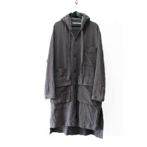 VITAL ヴァイタル Hoodie Long Coat  フードロングコート グレー grey  M-L|nontitletokyo