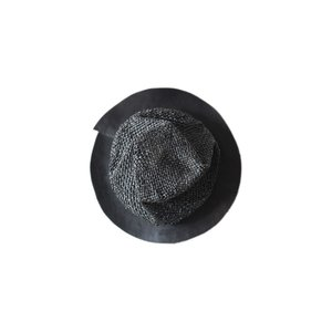 non title tokyo別注 Your Hat Number  488 Leather Brim Straw Hat  レザートリムストローハット 帽子 ブラックメランジ 黒 BLK  59cm レザー 革|nontitletokyo