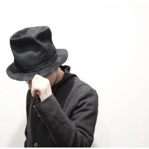 Your Hat Number  844 WAXED RABBIT FUR LEATHER TRIM HAT ワックスドラビットファーハット ブラック BLK  59cm 黒 帽子|nontitletokyo