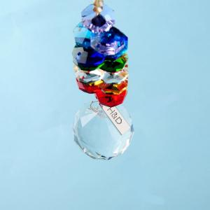 H&D 水晶サンキャッチャー カラフルクリスタルレインボー チャクラのデザイン健康と幸せを呼ぶ|noon-store