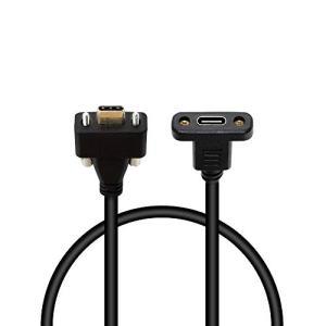 SinLoon USB 3.1 タイプC TYPE Cオス - メス延長データケーブル パネルマウントケーブル付けネジ穴付きとデュアルロック|noon-store