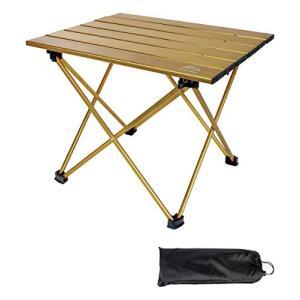 アウトドア 軽量 テーブル キャンプ コンパクト 折りたたみテーブル アルミ ローテーブル レジャーテーブル ミニ バーベキュー 専用収納袋|noon-store