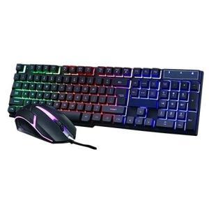 MALTTO Neon Keyboard & Mouse イルミネーション ゲーミングキーボード 1...