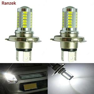 Ranzek H4 LED霧5630 33SMD LEDフォグヘッドライト駆動DRLホワイトバルブ(2個)|noon-store