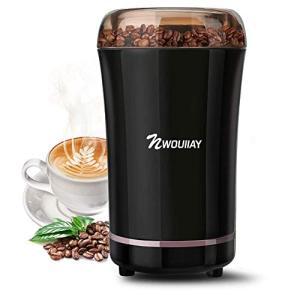 NWOUIIAY 電動コーヒーミル コーヒーミル 電動ミル コーヒーグラインダー 300Wハイパワー 304ステンレス製 安全安心 ワンタッ|noon-store
