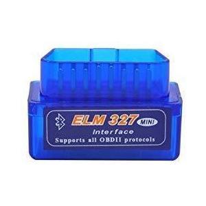 Parishop 超小型モデル OBDII 診断 ミニELM 327 V2.1 ブルートゥース スキャンツール テスター OBD2 Blue noon-store