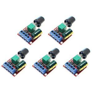 5個セット PWM 速度コントローラー 5A ミニモータ スピードコントロール スイッチ 5V-35V LED 調光器|noon-store