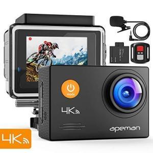 進化版APEMAN A79 アクションカメラ 4K高画質 WEBカメラ 2000万画素 外部マイク ...