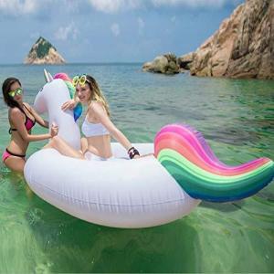 Jasonwell 浮き輪 ユニコーン 大型 フロート インスタ映えの王者ツール 大きいサイズ 快速エアバルブ 海遊び 水遊び プールパーテ noon-store