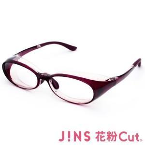 JINS 花粉Cut(R)花粉最大98% カット異物からスタイリッシュに眼を守るメガネ オーバル(度なし)WINE noon-store